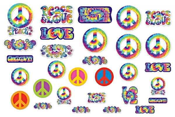 60s Feelin Groovy - Assorted Cut-outs